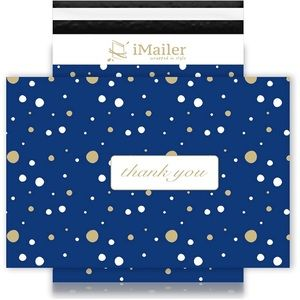 Poly Mailers 14 X 19 (10 Pack) Blue Polka Dot